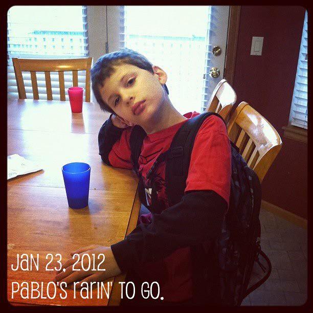Pablo's rarin' to go.