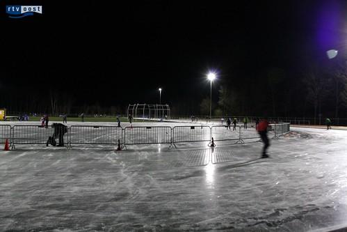 Schaatsen op de ijsbaan in Losser