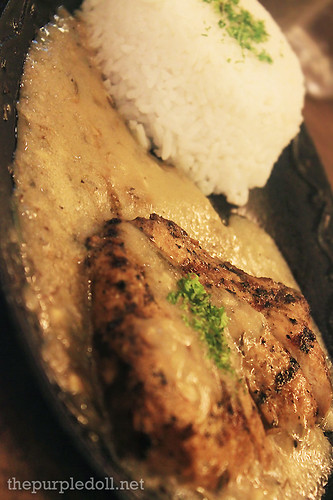 Grilled Chicken in Rum N' Herb Butter Sauce P110