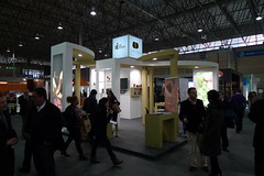 Stand do proxecto EIXO INTERIOR  en Xantar 2012 (Ourense)