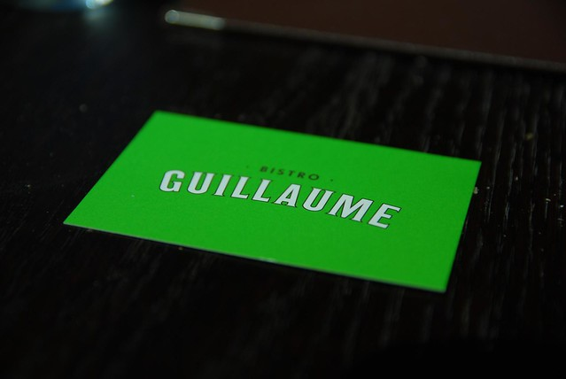 Business card - Bistro Guillaume
