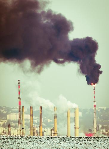 [フリー画像素材] 建築物・町並み, 工場, 煙・スモーク ID:201202121600