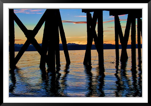 sunset mountains reflection water pier supershot coth5