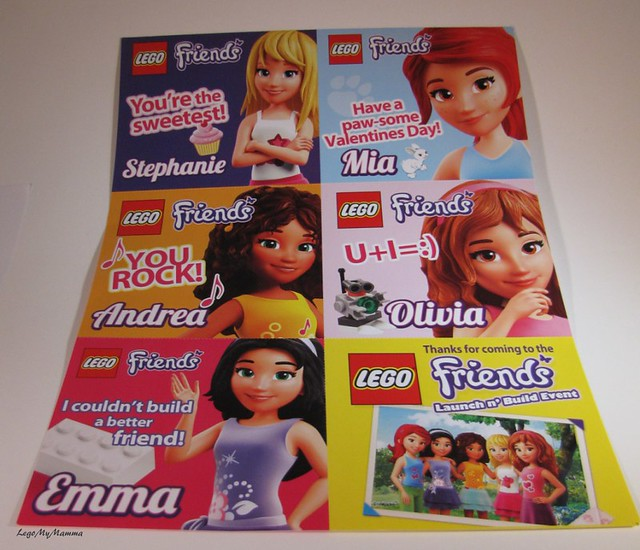 Valentine S Day Toys R Us : Lego friends valentine s day cards at the launch