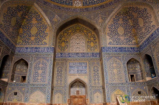 Imam Mosque Interiors - Esfahan, Iran
