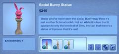 Social Bunny Statue