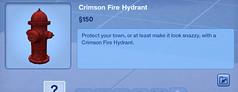 Crimson Fire Hydrant