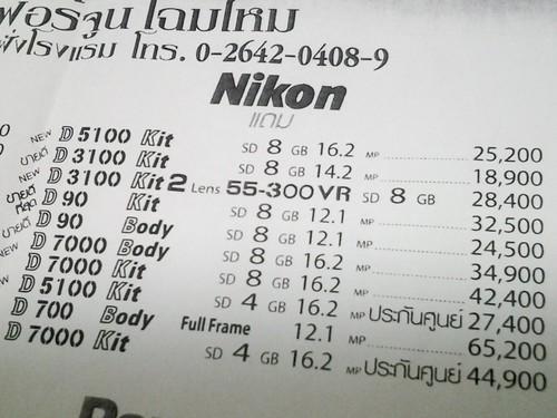 Nikon Pricing