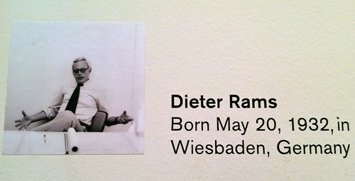 Dieter Rams at SF Moma