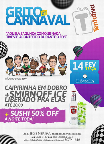 Flyer Grito de Carnaval by chambe.com.br