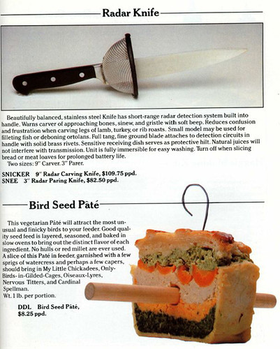 Radar Knife / Bird Seed Pate