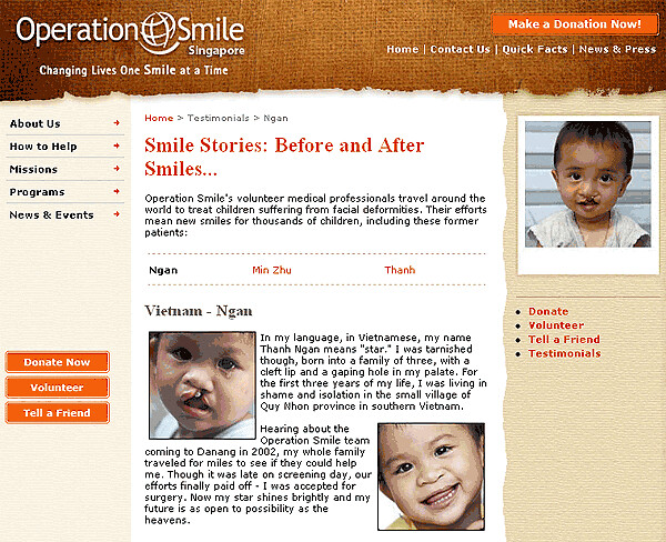 Visit Operation Smile Singapore website to find out more or make a direct donation