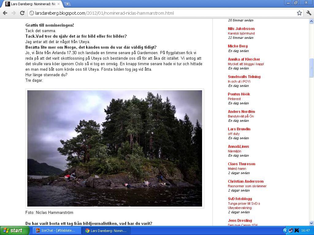et av bildene fra utøya