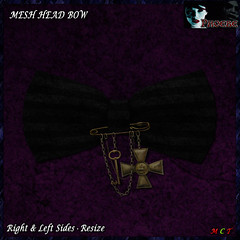 [NEW ON SALE!] *P* Pam Head Bow ~Black~