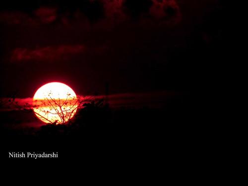 sunset sunsetinranchi sunsetwithringofclouds