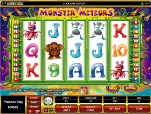 Monster Meteors Slot Machine
