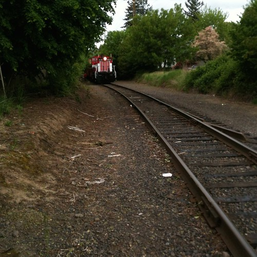 An EPT passenger train lays over just west of 17th Ave