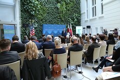Deputy Secretary of State Antony 'Tony' Blinken gives remarks on the United States, Europe, and the NATO Alliance at the German Marshall Fund in Warsaw, Poland, on May 5, 2016. [State Department photo/ Public Domain]