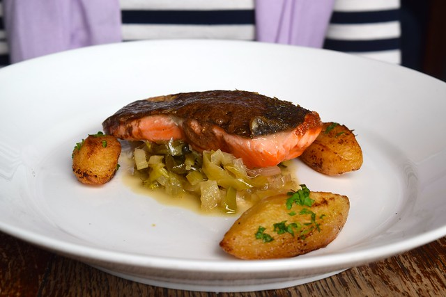 Sea Trout with Cep Butter at Wyatt and Jones, Broadstairs | www.rachelphipps.com @rachelphipps