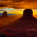 Stormy Monument Valley Sunrise by Jerry T Patterson