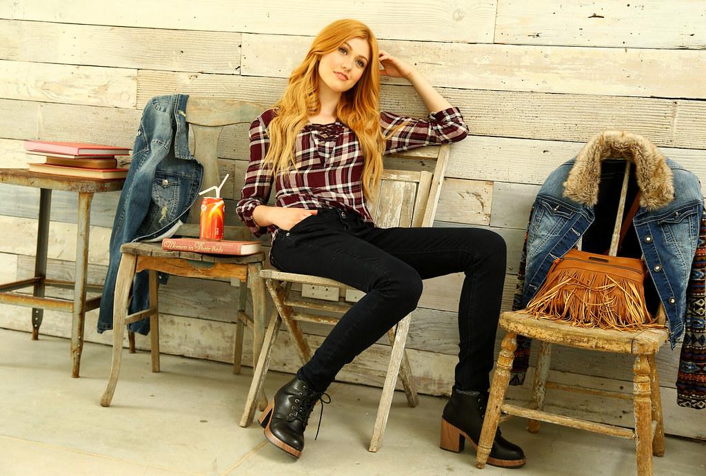 Кэтрин МакНамара — Фотосессия для «Wallflower Jeans» 2016 – 6
