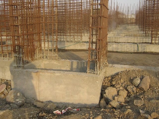 Close up of a plinth - 7th Avenue - Premium Residences - Life Republic - Hinjewadi Marunji - on 22nd February 2012 - World Thinking Day