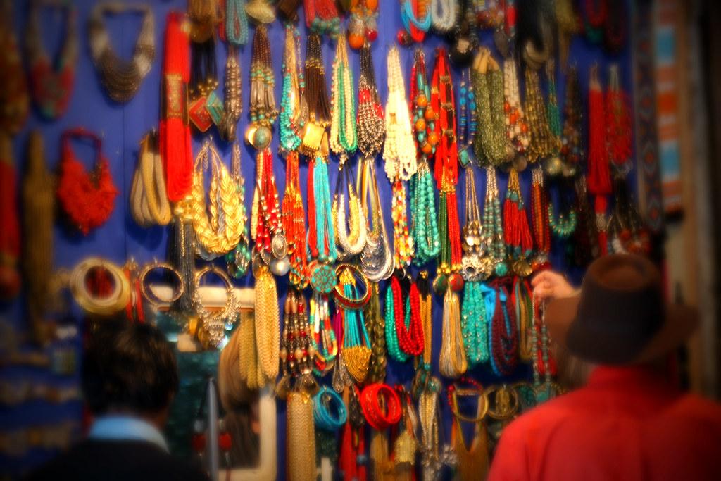 beads seller ~ Khan Market, New Delhi