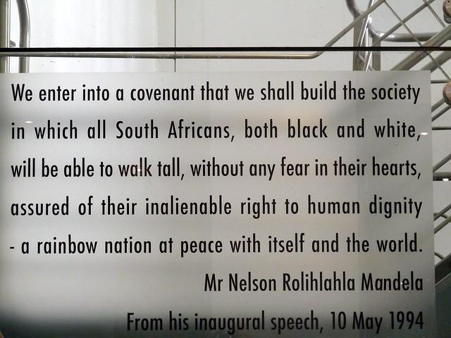 nelson mandela s inaugural speech Inaugural speech, pretoria [mandela]- 5/10/94 statement of the president of the african national congress,nelson mandela, at his inauguration as president of the.