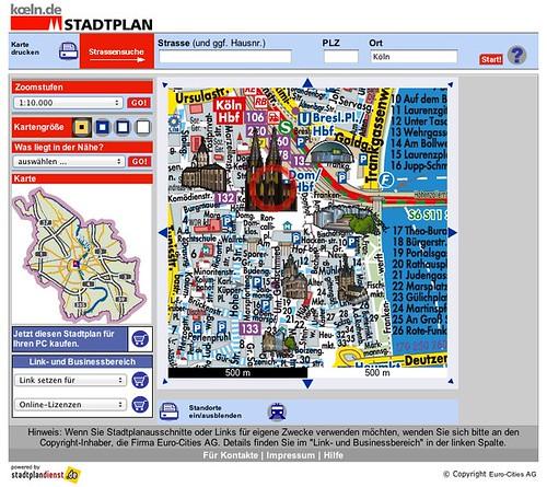 Stadtplan Stadt Köln und Umgebung [koeln.de], interaktiv mit Hausnummern- und Umkreissuche und vielen weiteren Features