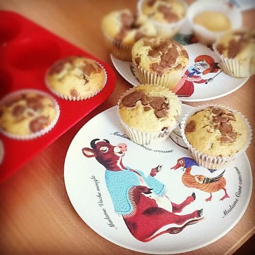 Baking muffin