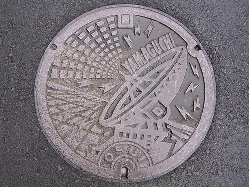 Yamaguchi city manhole cover (山口県山口市のマンホール)