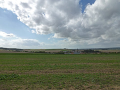 View W to Le Hamel from German command post 'Wolfsberg' - Photo of Framerville-Rainecourt