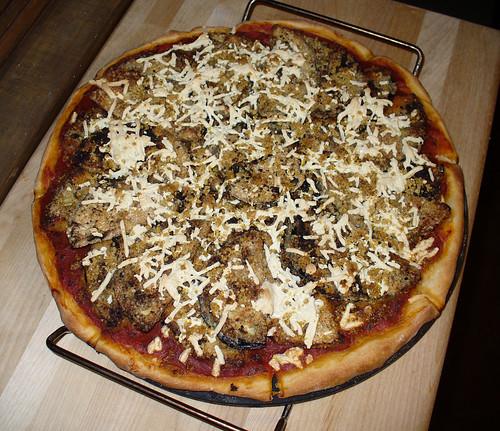 2012-03-04 - VJF Eggplant Parm Pizza - 0002