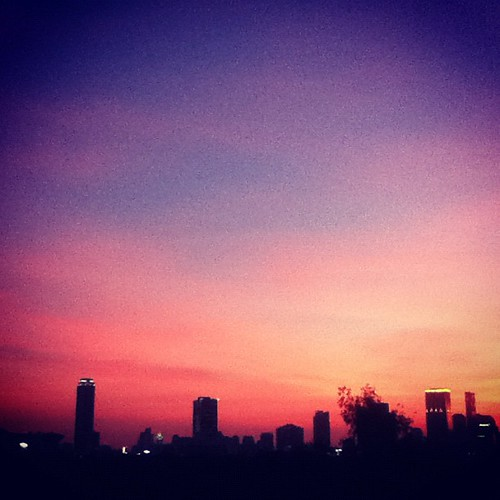 Another vibrant Bangkok sunset. Keep 'em coming, I say.