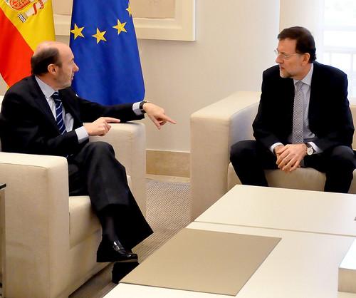 Rubalcaba y Rajoy