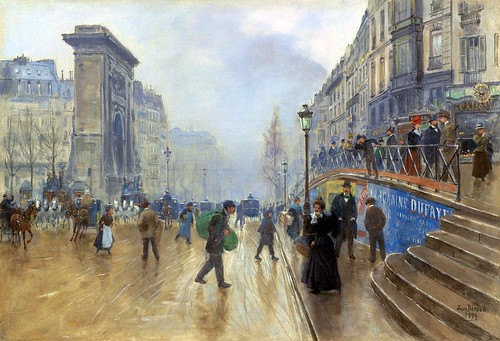 The Boulevard Saint-Denis in Paris [1899] by Gandalf's Gallery