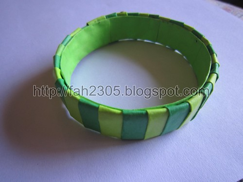 Handmade aper Stripes Bangle 2 by fah2305