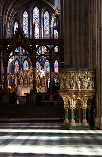Lights and shadows in Worcester Cathedral 2
