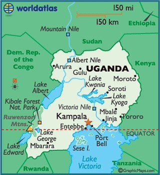 Uganda and the source of the Nile River  by trudeau
