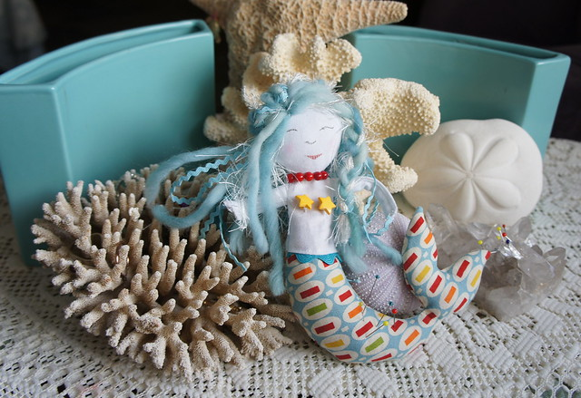 Lorelei - A Mermaid Pincushion for Moda Slice Competition