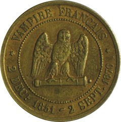 French satirical medal reverse