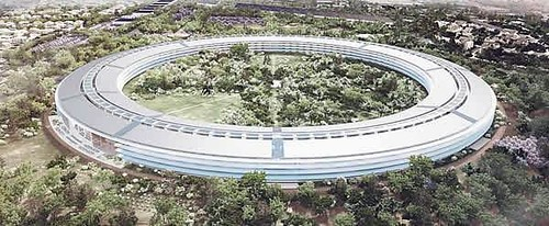 "the new Apple ""campus"" (via City of Cupertino)"