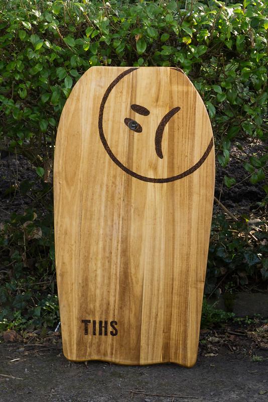 Modern style bodyboard in solid paulownia wood
