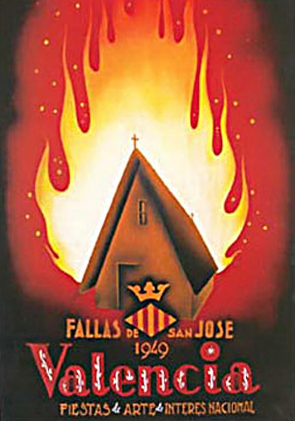 Cartel de las Fallas de Valencia de 1949