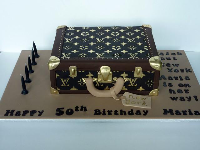Edible Cake Images Louis Vuitton : Louis Vuitton suitcase cake Explore Incredible Edible ...
