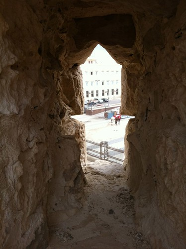 Arrow-slit in Qaitbey Citadel, Alexandria, Egypt