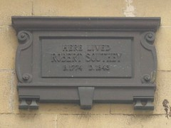 Photo of Robert Southey bronze plaque