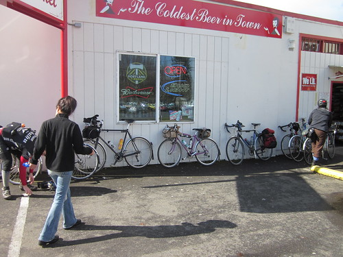 Bicycles outside Mama Jiah's market in Forest Grove