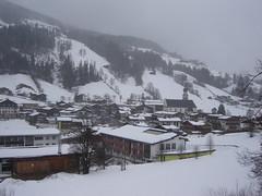 Schneefall in Oberau