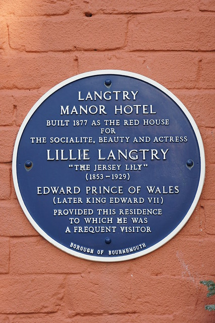 Photo of Langtry Manor Hotel, Bournemouth, Lillie Langtry, and Edward VII blue plaque